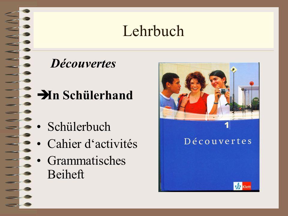 Lehrbuch In Schülerhand Schülerbuch Cahier d'activités