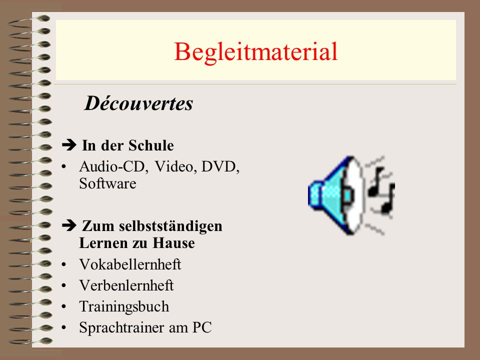 Begleitmaterial  In der Schule Audio-CD, Video, DVD, Software