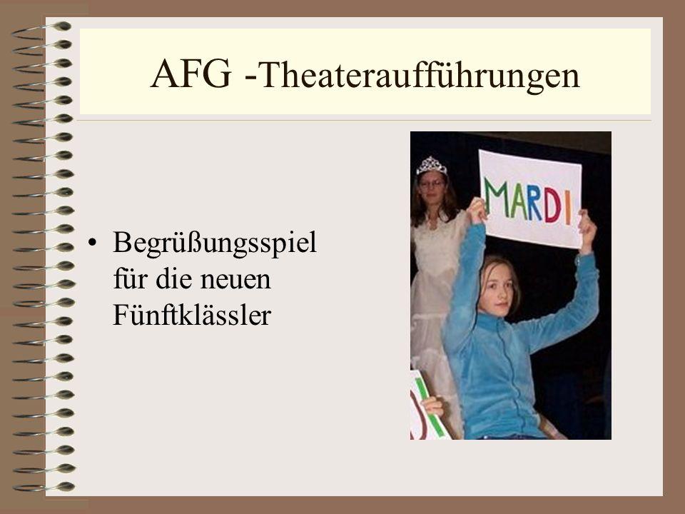 AFG -Theateraufführungen
