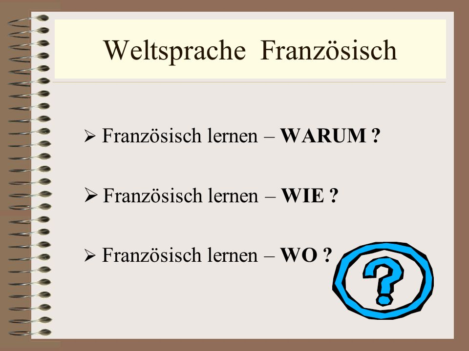 Weltsprache Französisch