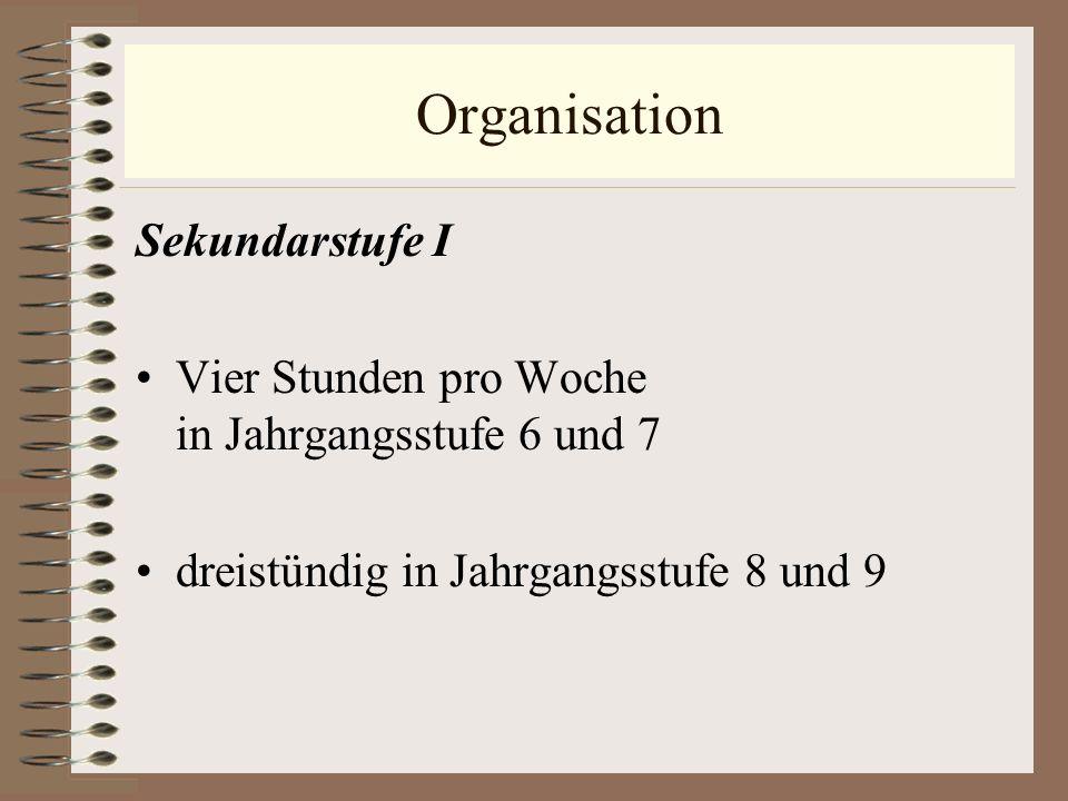 Organisation Sekundarstufe I