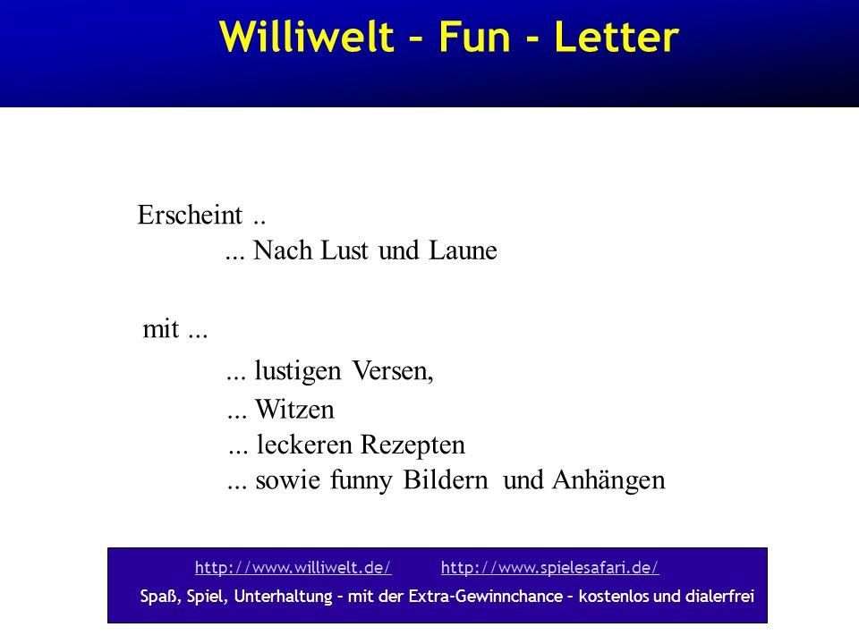 Williwelt – Fun - Letter