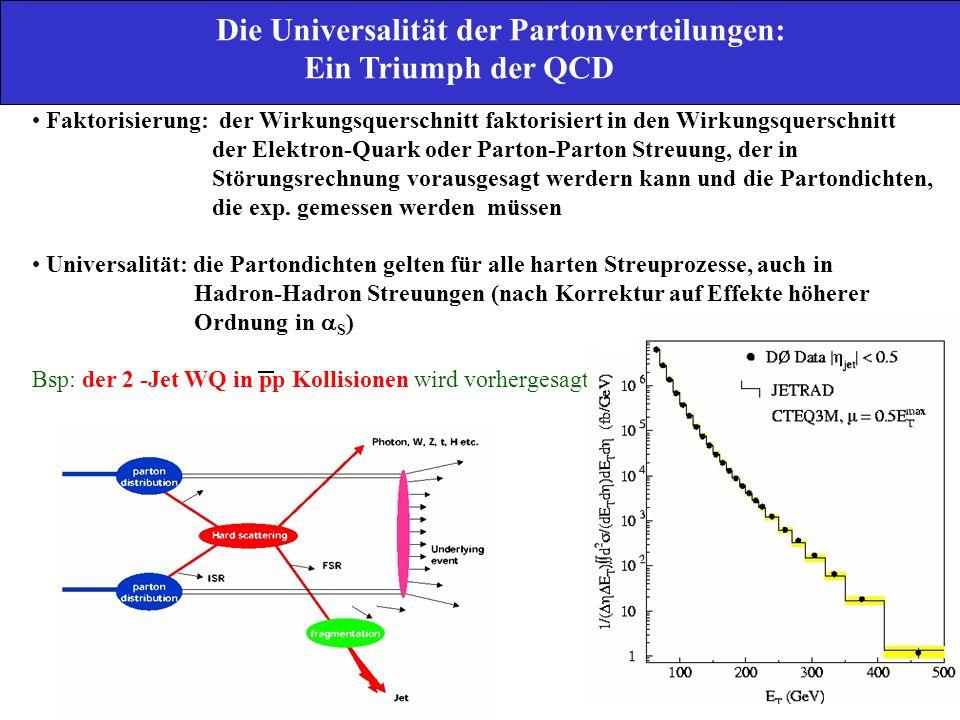 Die Universalität der Partonverteilungen: Ein Triumph der QCD