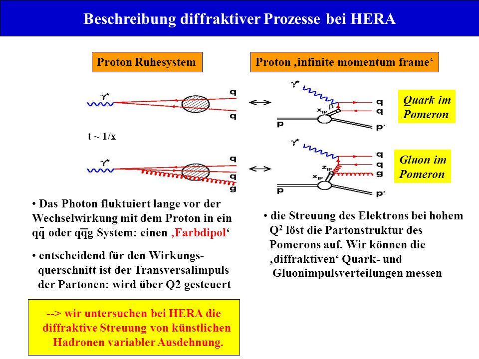Beschreibung diffraktiver Prozesse bei HERA