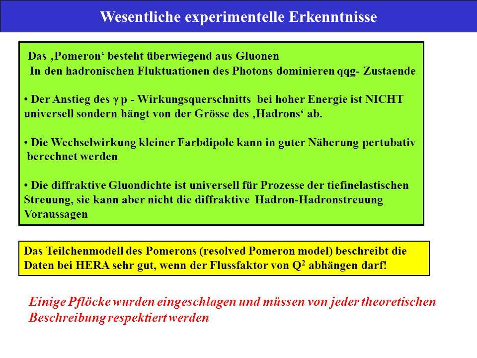 Wesentliche experimentelle Erkenntnisse
