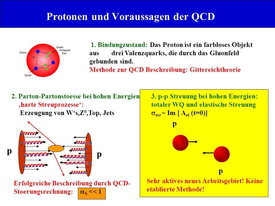 Protonen und Voraussagen der QCD
