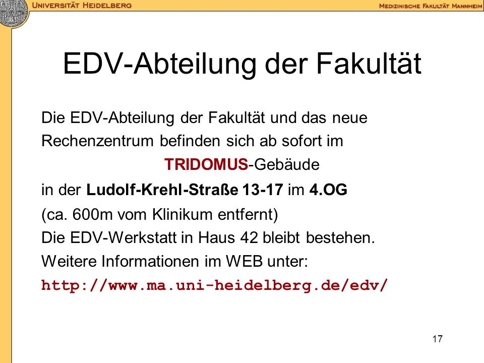 EDV-Abteilung der Fakultät