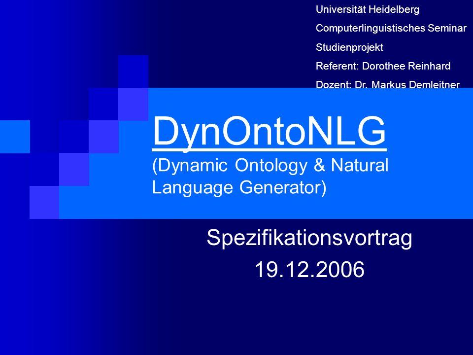 DynOntoNLG (Dynamic Ontology & Natural Language Generator)