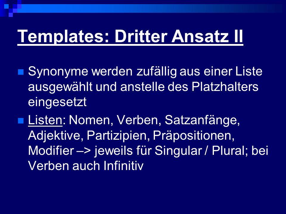 Templates: Dritter Ansatz II