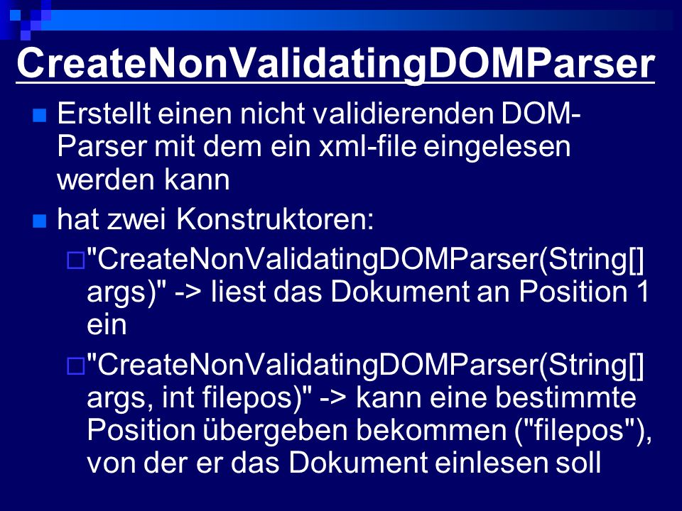 CreateNonValidatingDOMParser