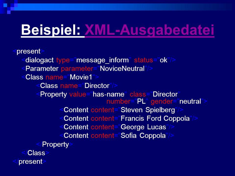 Beispiel: XML-Ausgabedatei