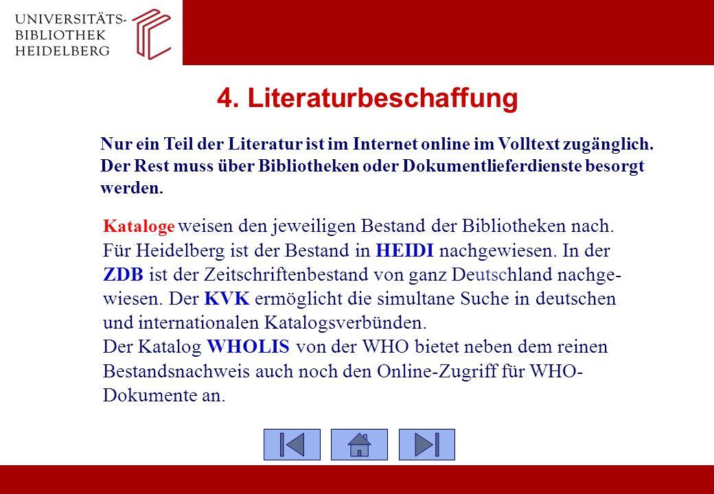 4. Literaturbeschaffung