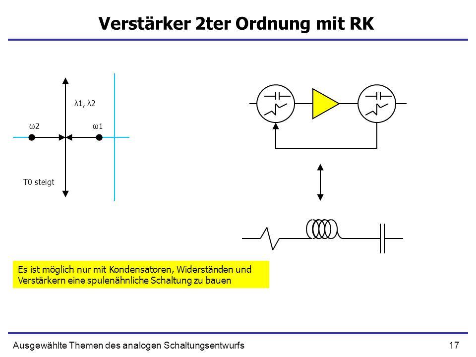Verstärker 2ter Ordnung mit RK