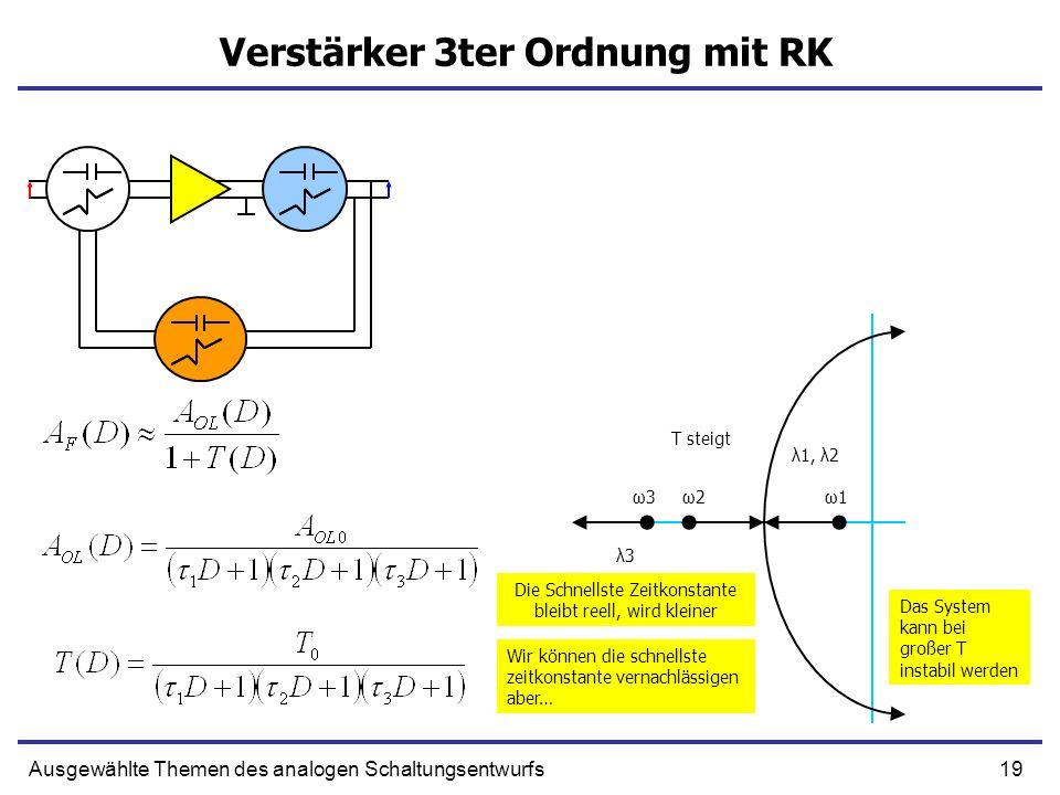 Verstärker 3ter Ordnung mit RK