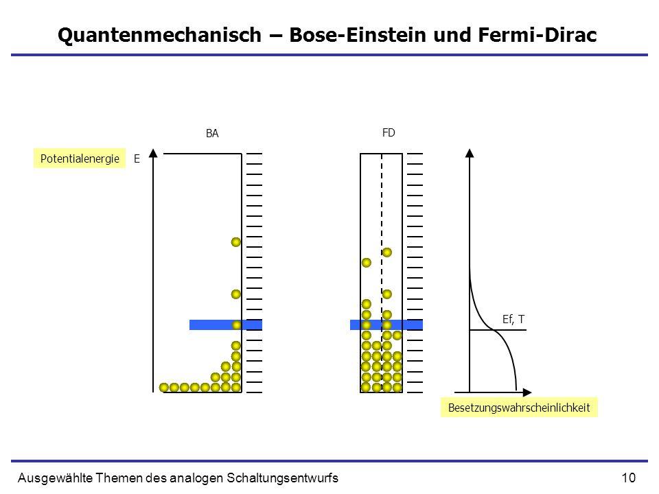 Quantenmechanisch – Bose-Einstein und Fermi-Dirac