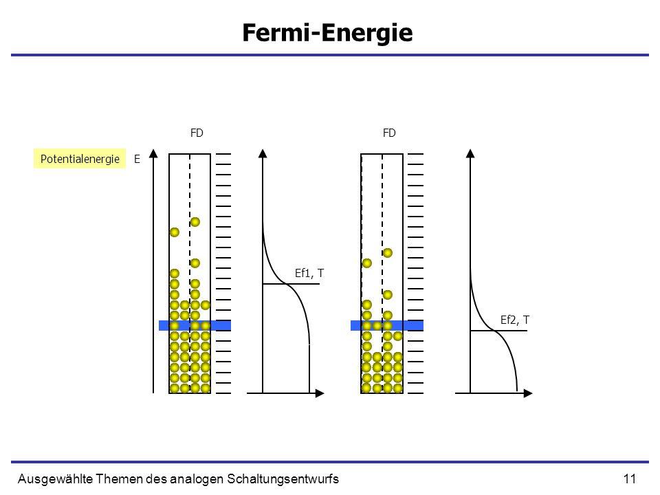 Fermi-Energie Ausgewählte Themen des analogen Schaltungsentwurfs FD FD