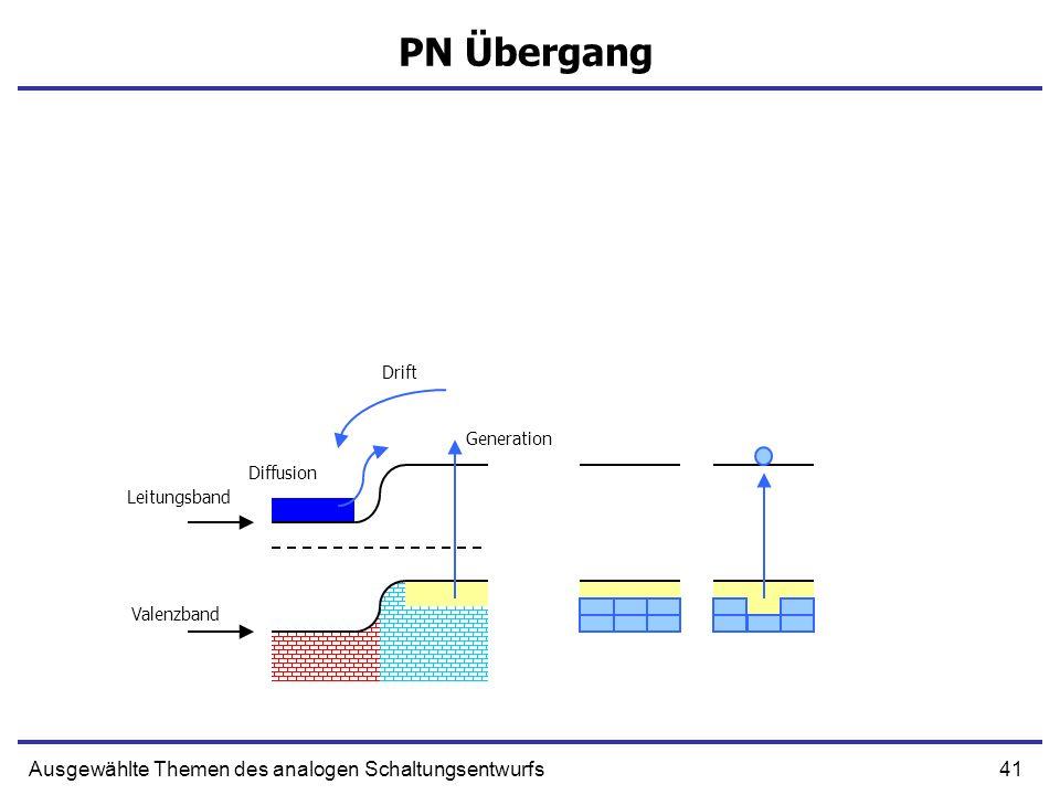 PN Übergang Ausgewählte Themen des analogen Schaltungsentwurfs Drift
