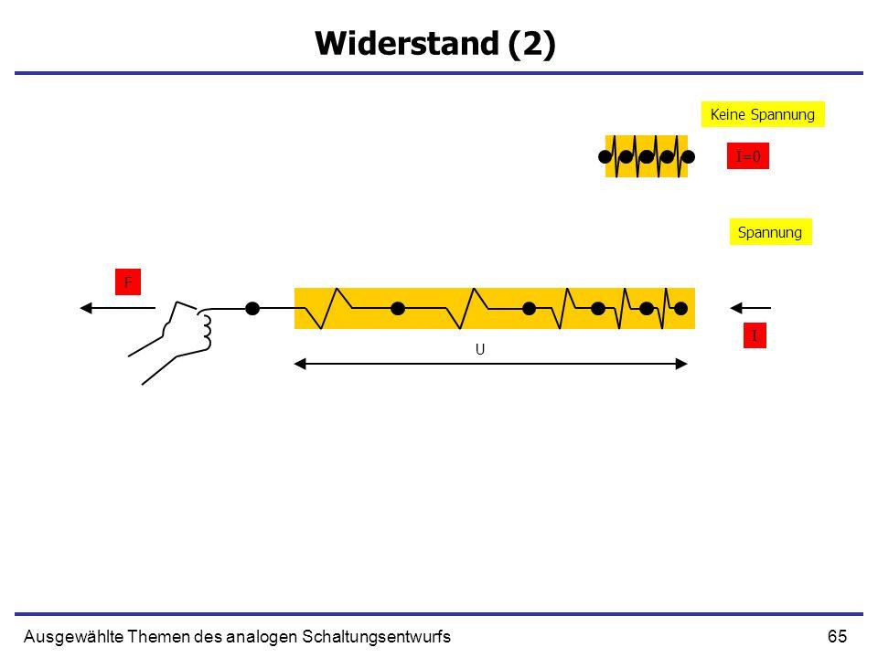 Widerstand (2) Ausgewählte Themen des analogen Schaltungsentwurfs