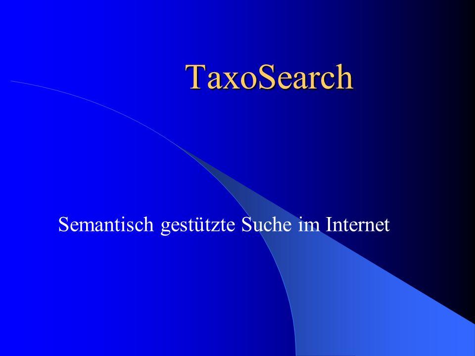 Semantisch gestützte Suche im Internet