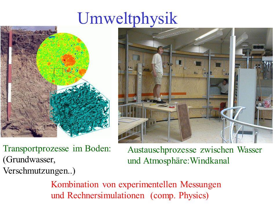 Umweltphysik Transportprozesse im Boden:
