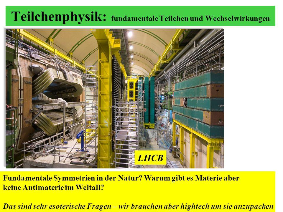 Teilchenphysik: fundamentale Teilchen und Wechselwirkungen