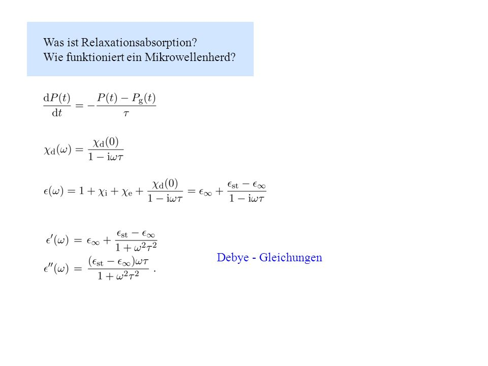 Was ist Relaxationsabsorption