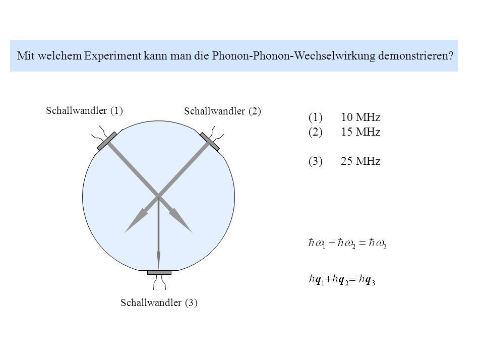 Mit welchem Experiment kann man die Phonon-Phonon-Wechselwirkung demonstrieren