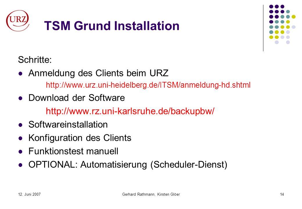 TSM Grund Installation