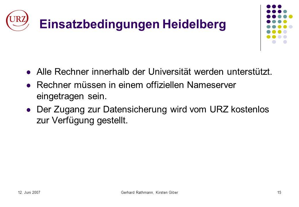 Einsatzbedingungen Heidelberg