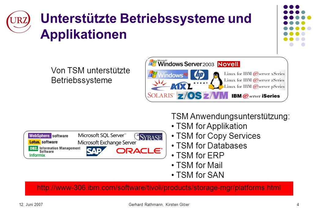 Unterstützte Betriebssysteme und Applikationen