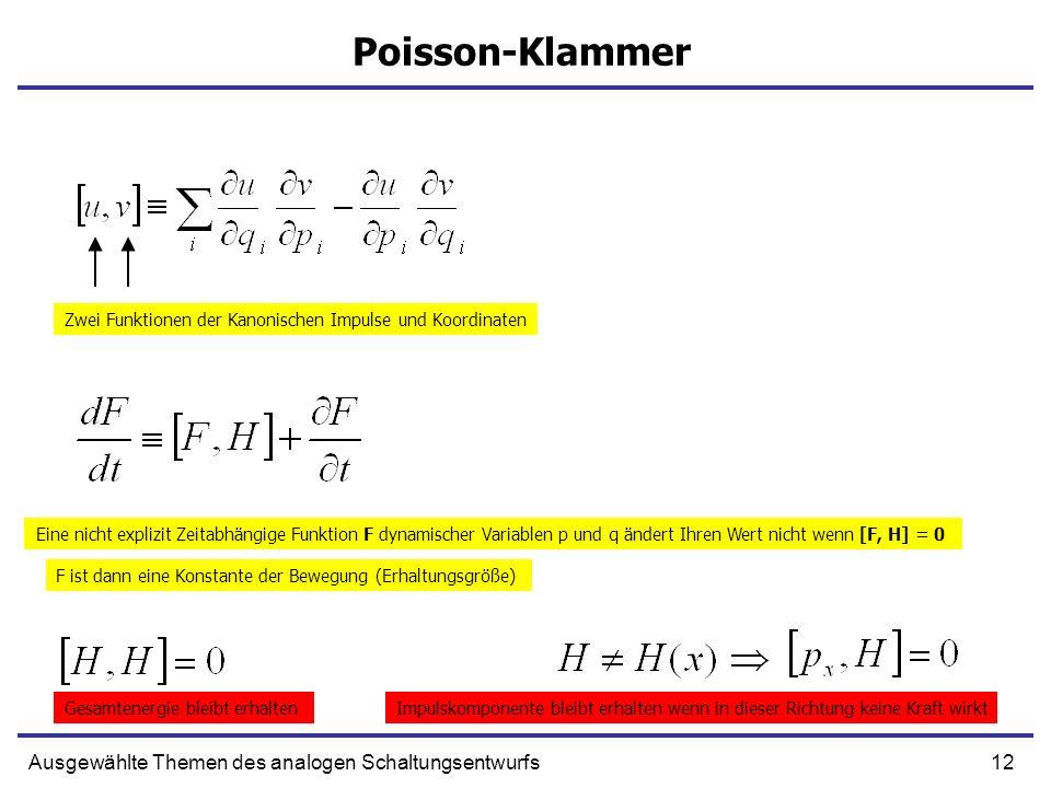 Poisson-Klammer Ausgewählte Themen des analogen Schaltungsentwurfs