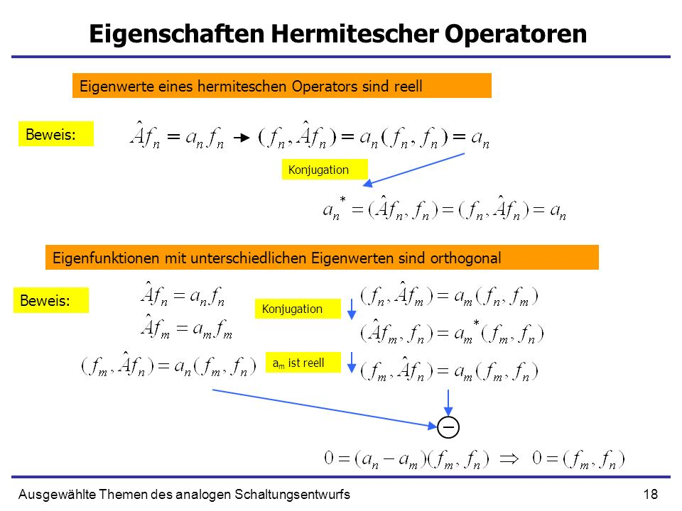 Eigenschaften Hermitescher Operatoren
