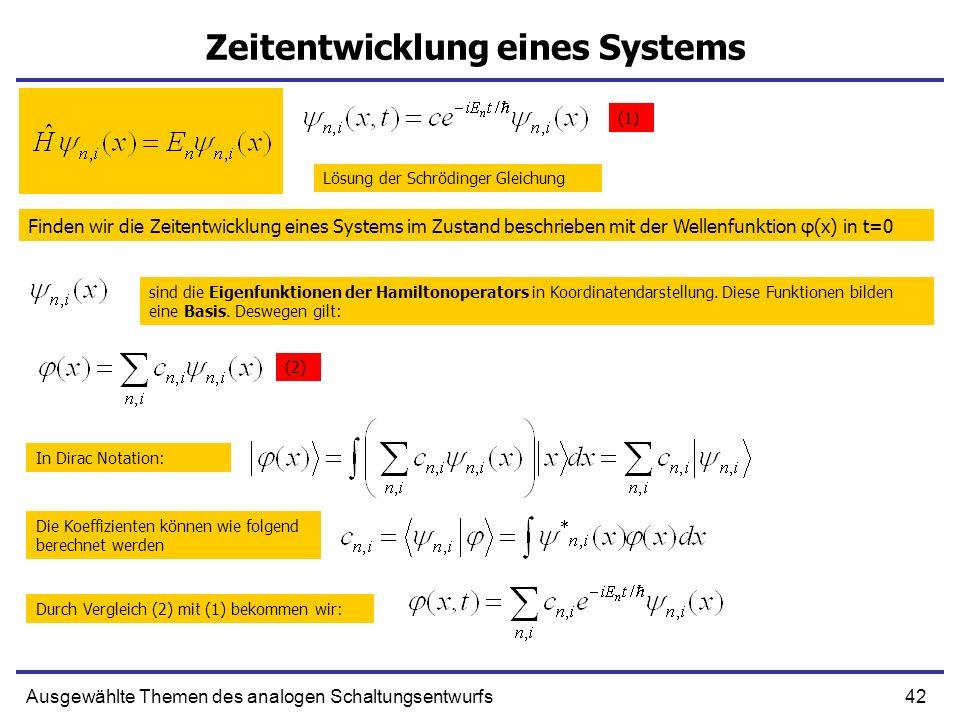 Zeitentwicklung eines Systems