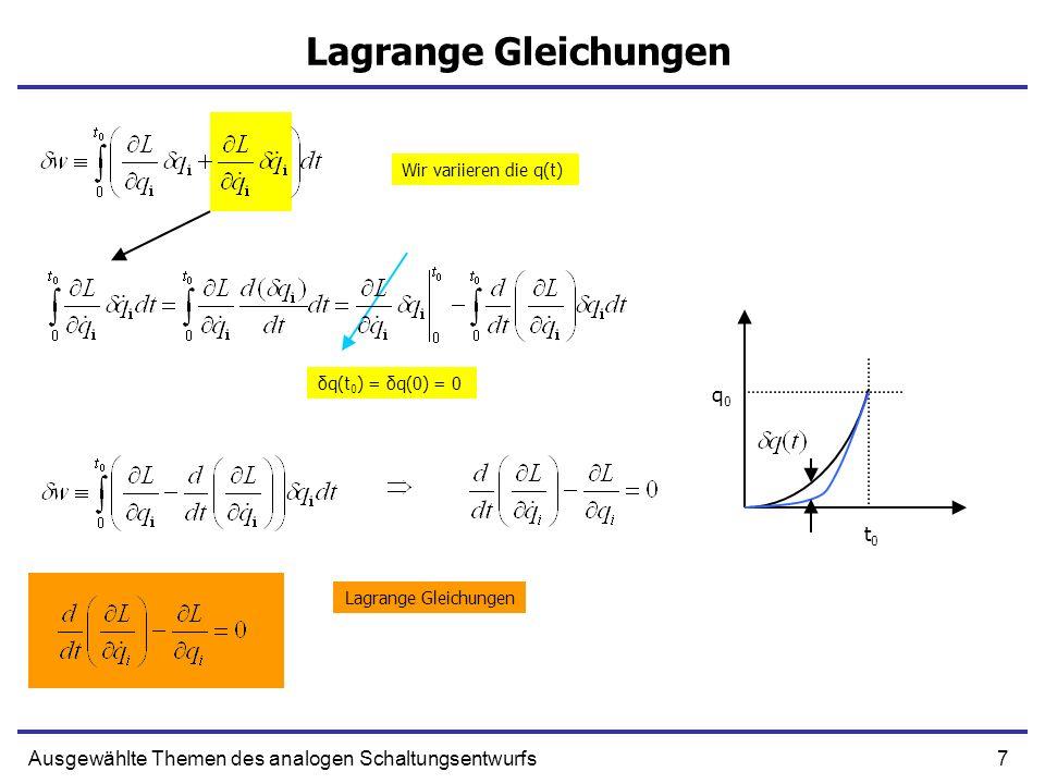 Lagrange Gleichungen q0 t0