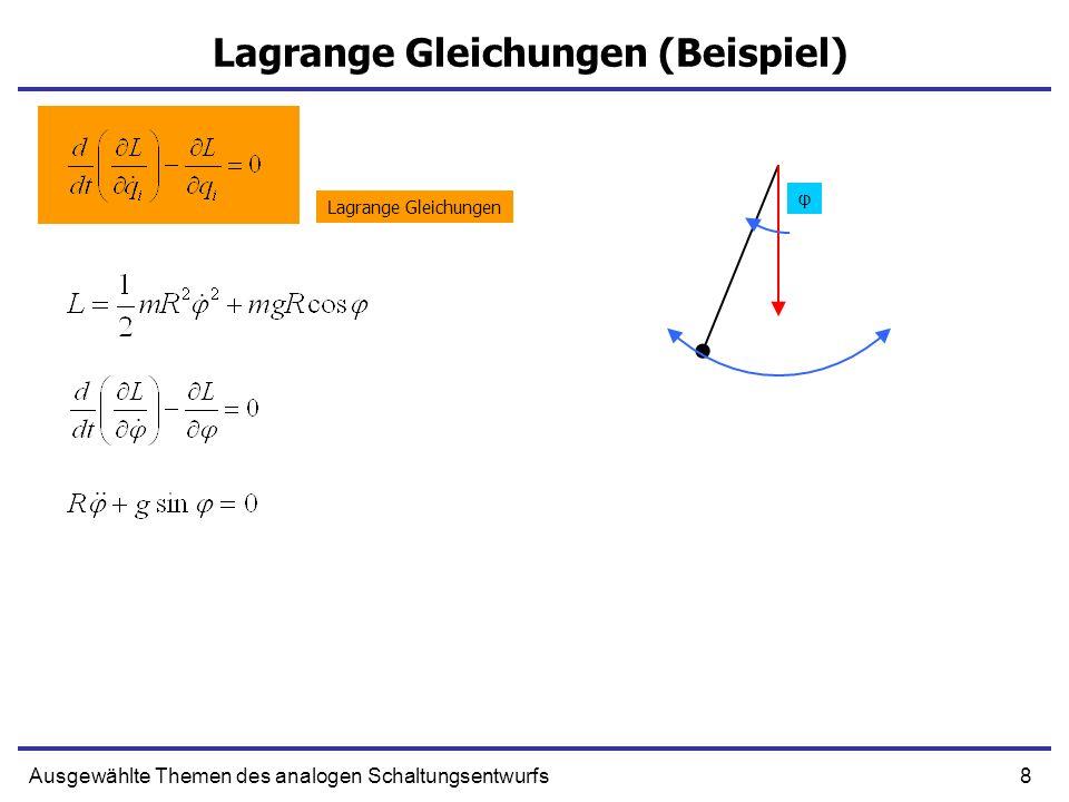 Lagrange Gleichungen (Beispiel)