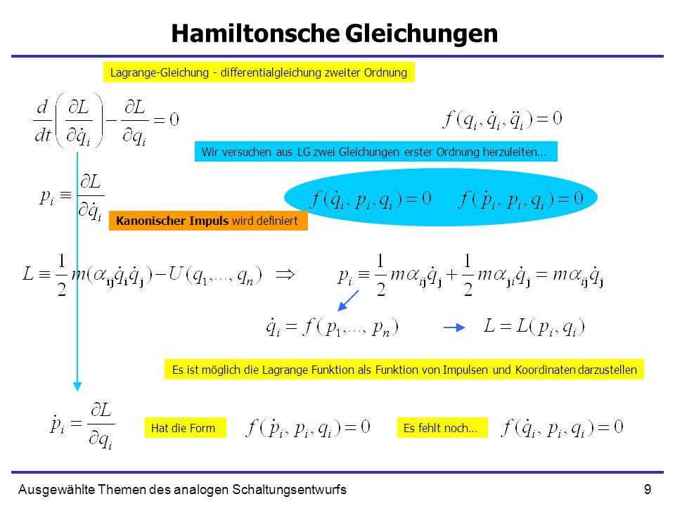 Hamiltonsche Gleichungen