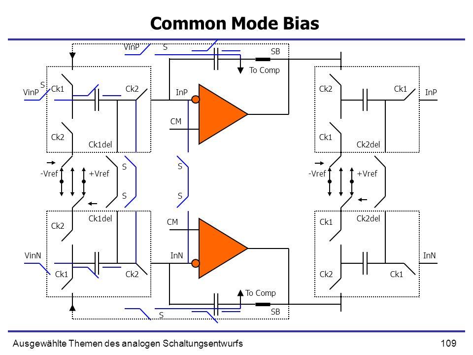 Common Mode Bias Ausgewählte Themen des analogen Schaltungsentwurfs
