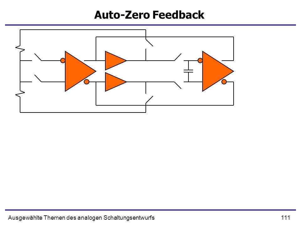 Auto-Zero Feedback Ausgewählte Themen des analogen Schaltungsentwurfs