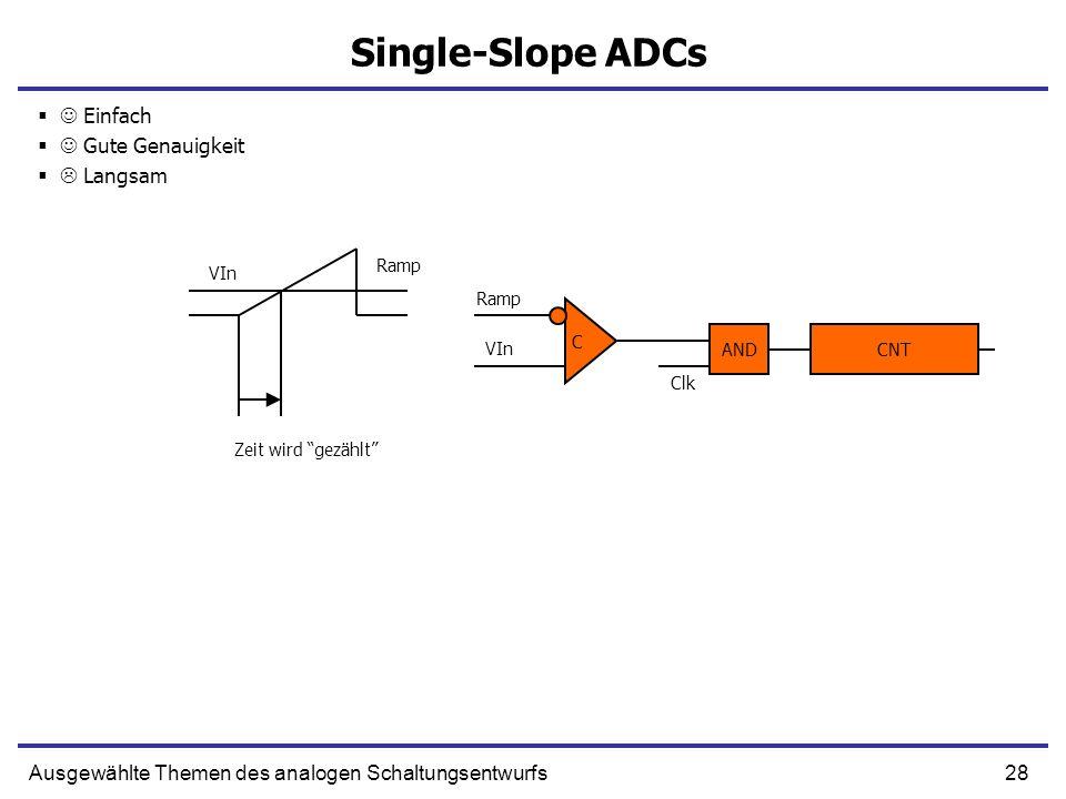 Single-Slope ADCs  Einfach  Gute Genauigkeit  Langsam
