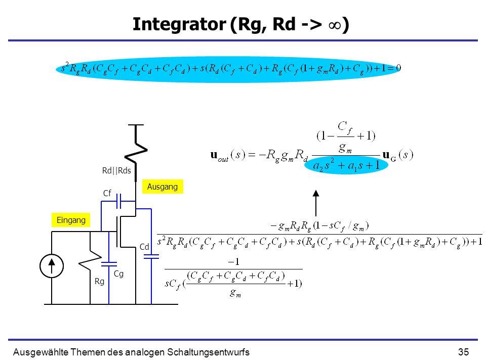 Integrator (Rg, Rd -> )