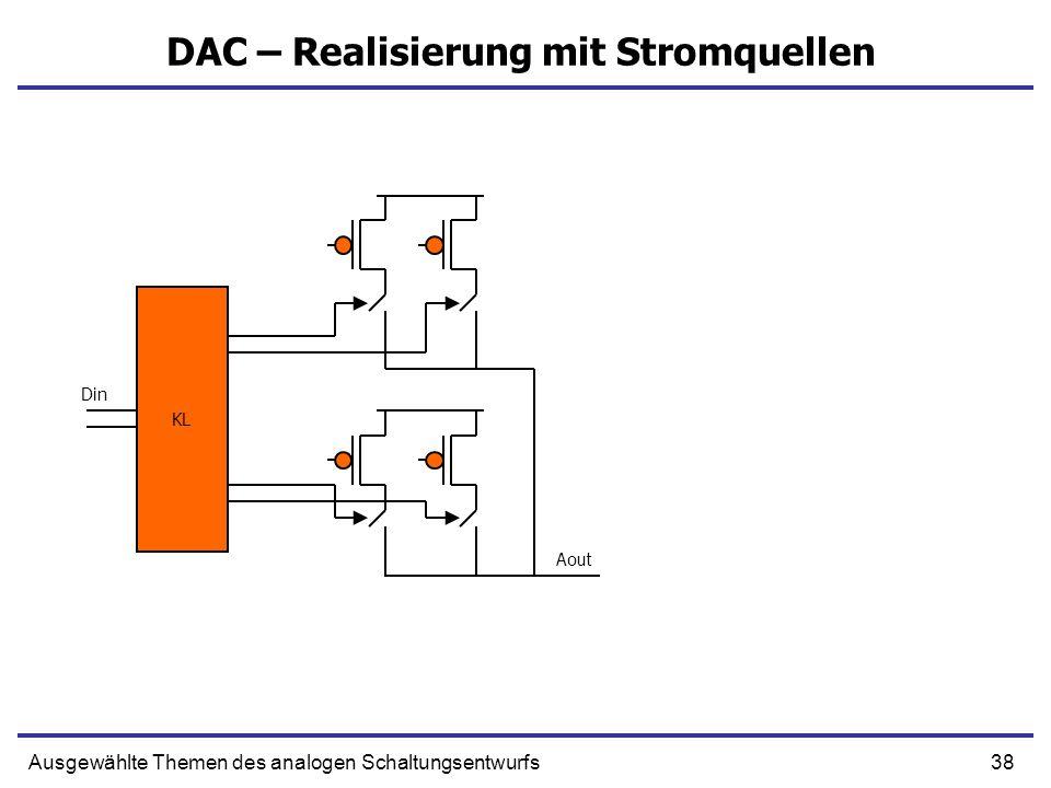 DAC – Realisierung mit Stromquellen
