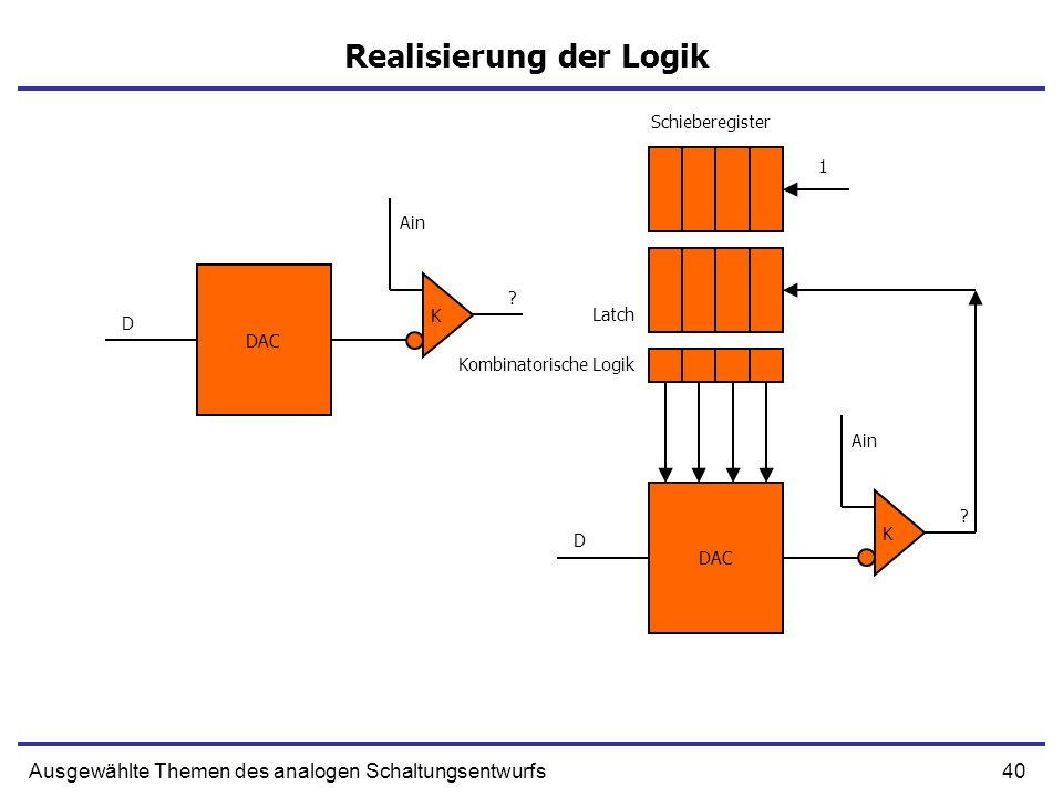 Realisierung der Logik