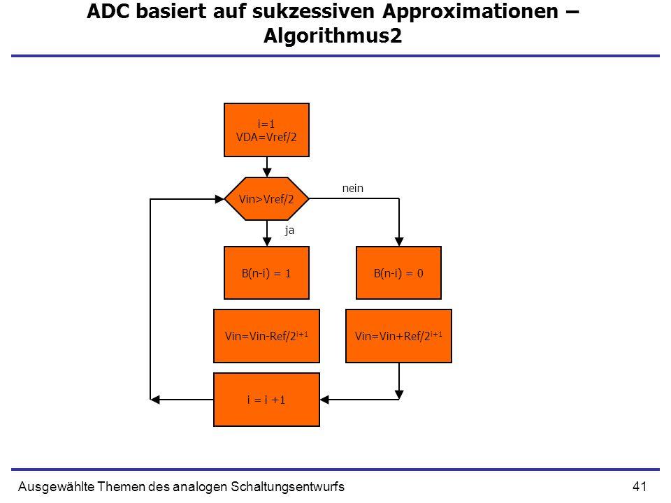 ADC basiert auf sukzessiven Approximationen – Algorithmus2