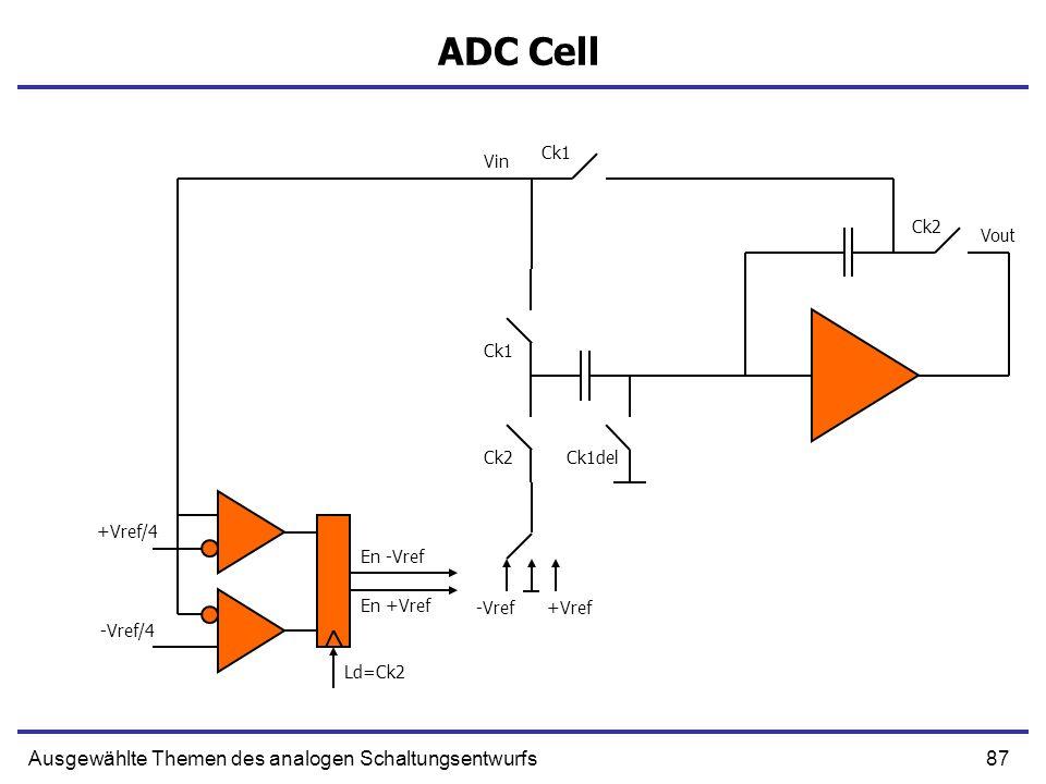 ADC Cell Ausgewählte Themen des analogen Schaltungsentwurfs Ck1 Vin