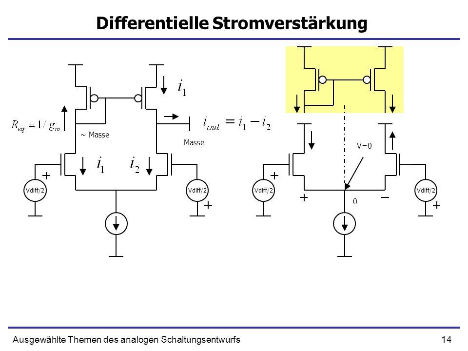 Differentielle Stromverstärkung