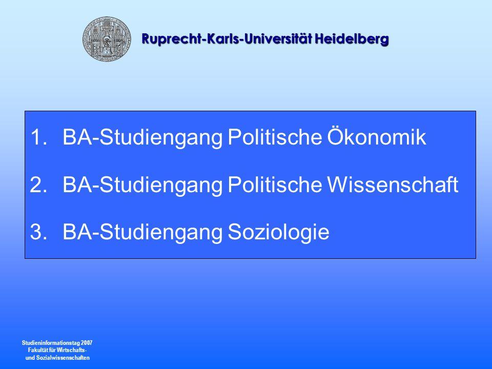 BA-Studiengang Politische Ökonomik
