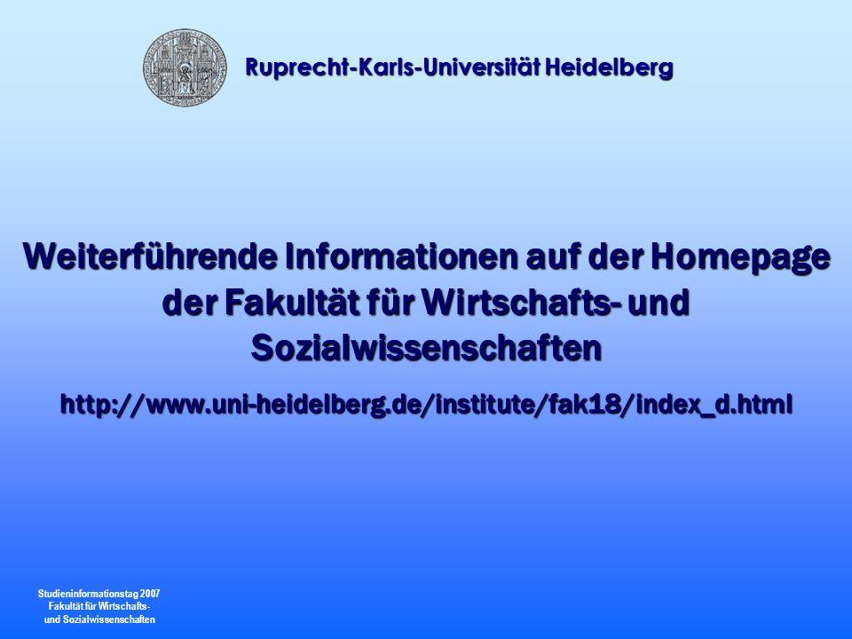 Weiterführende Informationen auf der Homepage der Fakultät für Wirtschafts- und Sozialwissenschaften