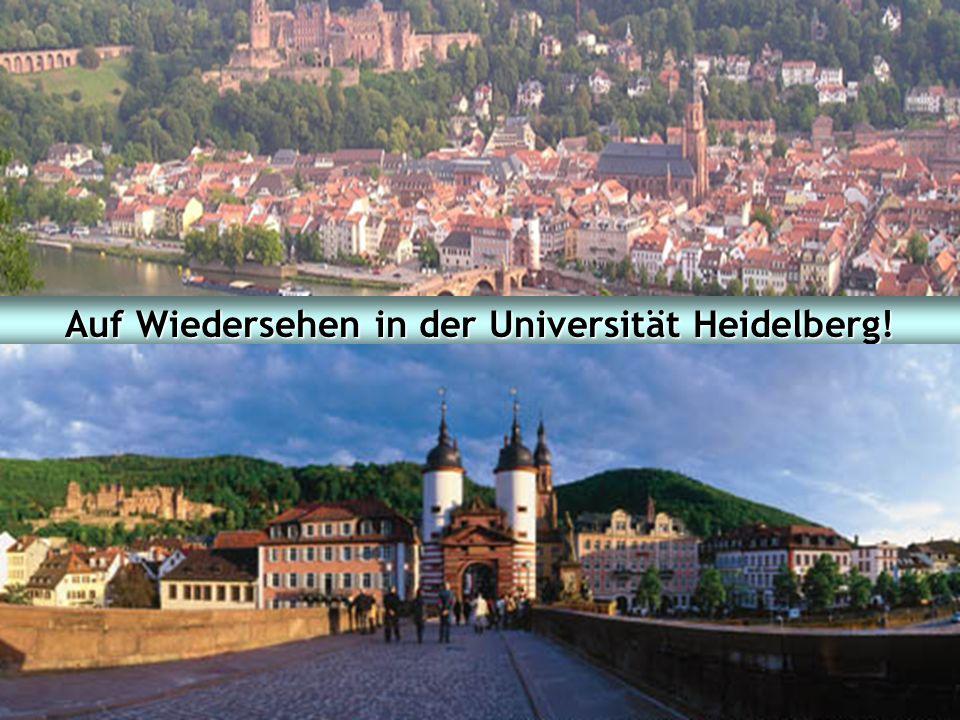 Auf Wiedersehen in der Universität Heidelberg!
