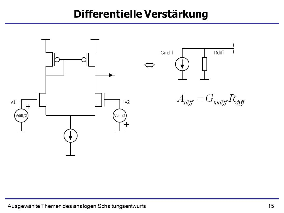 Differentielle Verstärkung