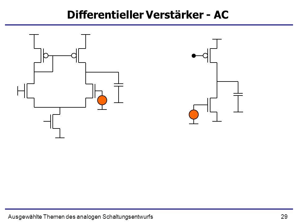 Differentieller Verstärker - AC
